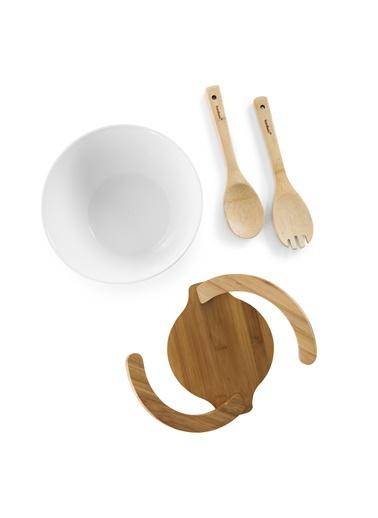 Bowlen - 4 Prç Salata Servis Seti-Bambum